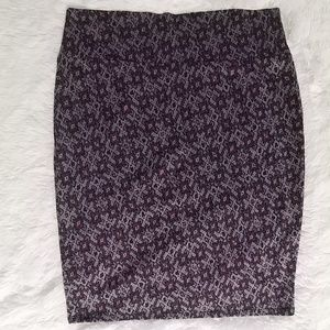 LuLaRoe Cassie Straight Pencil Knit Skier XL